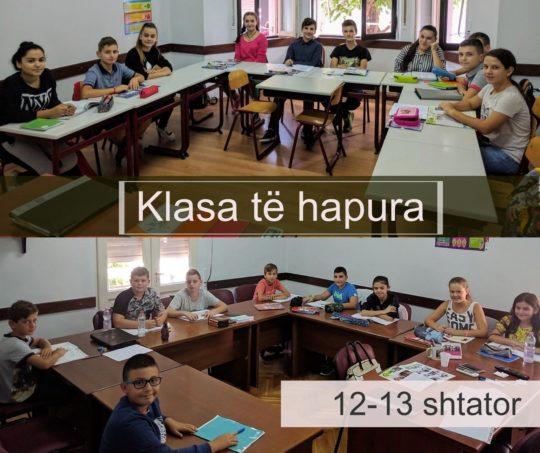 Klasa te hapura 12-13 shtator